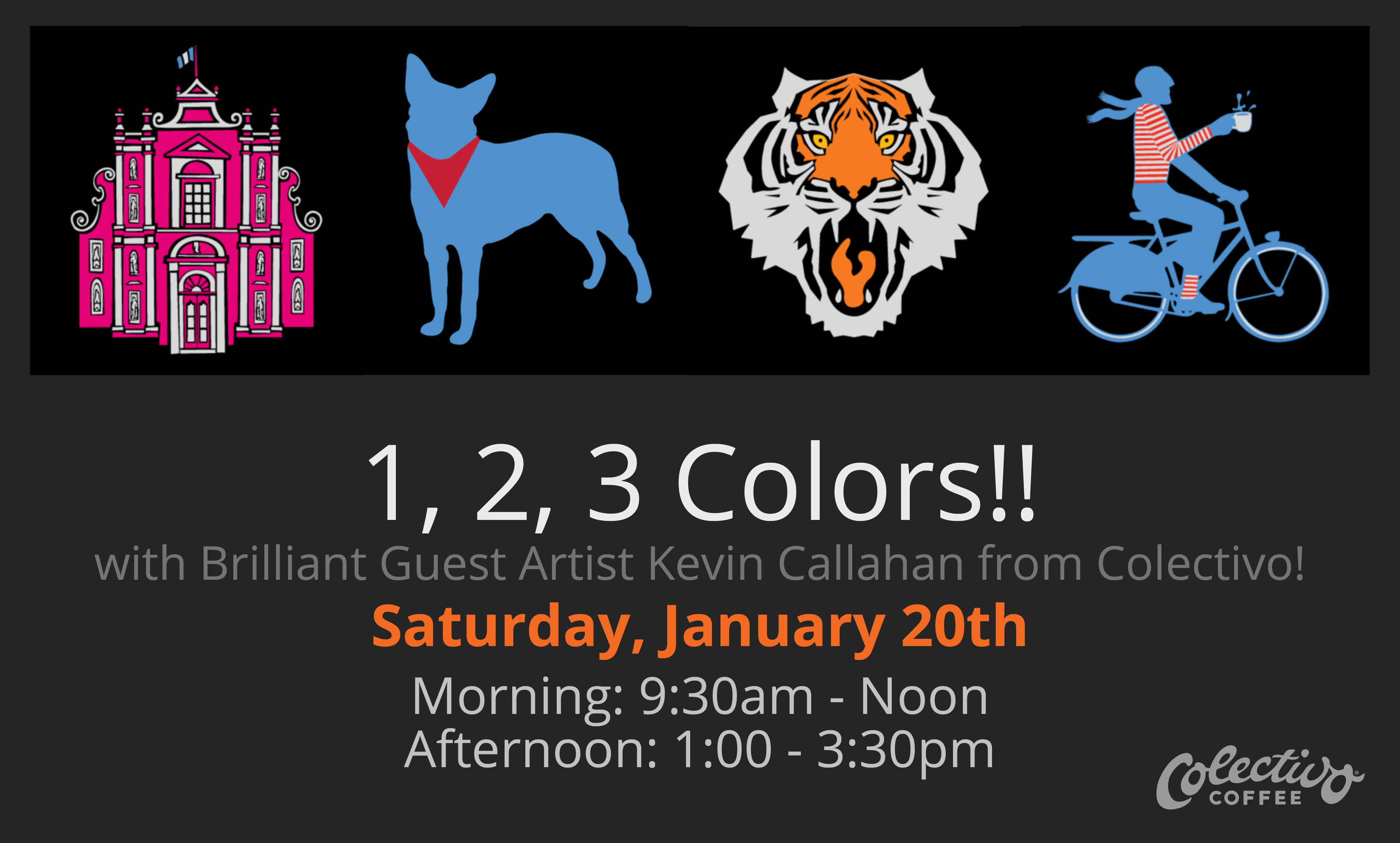1, 2, 3 Colors!! with Brilliant Guest Artist Kevin Callahan!